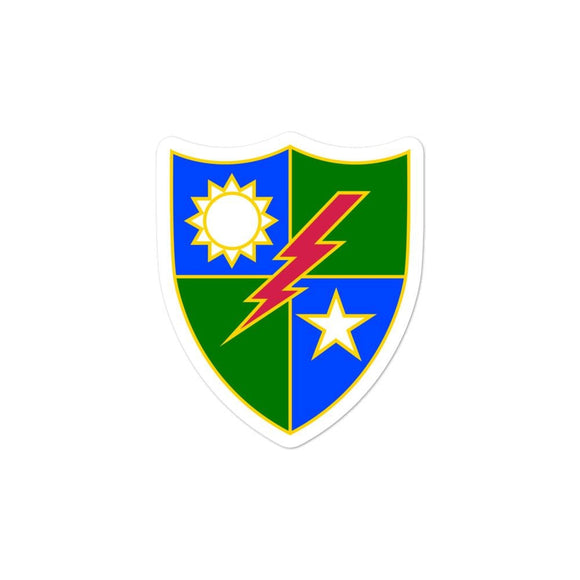 opszillastore,75th RANGER Regiment Crest Bubble-free stickers,