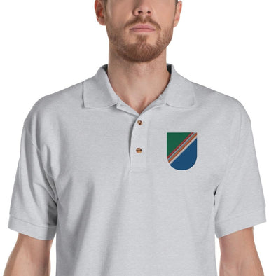 opszillastore,75th RANGER Regiment Regimental Flash Embroidered Polo Shirt,