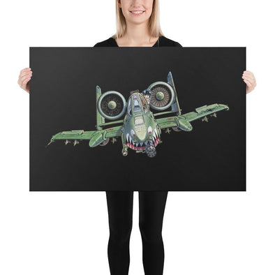 A-10 Warthog Thunderbolt II Tank Buster Canvas - 24×36