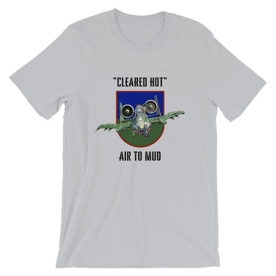 A-10 Warthog Thunderbolt II Tank Buster Short-Sleeve Unisex T-Shirt - Silver / S