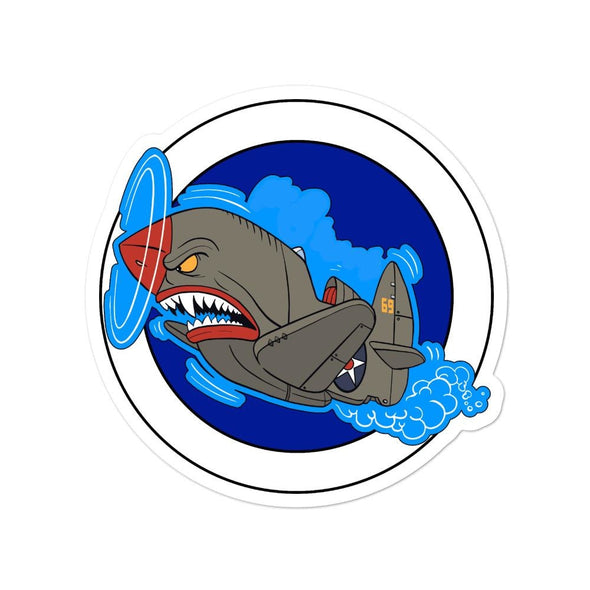 Air Shark Fighter Bubble-free stickers - 4x4