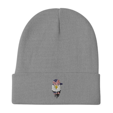 opszillastore,American Eagle and Cap Embroidered Beanie,