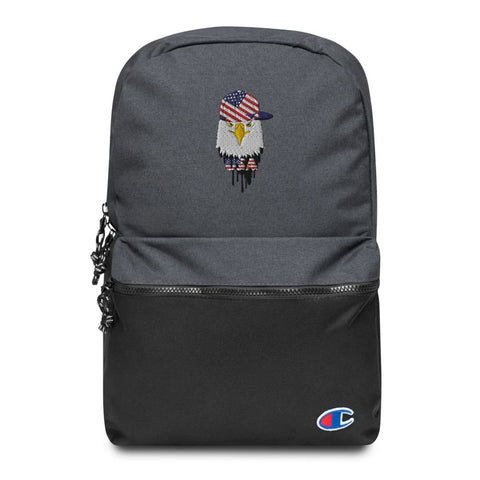 American Eagle and Cap Embroidered Champion Backpack