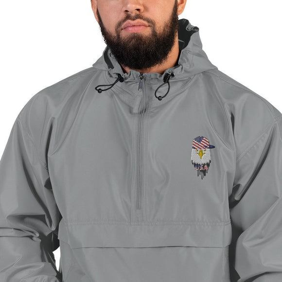 opszillastore,American Eagle and Cap Embroidered Champion Packable Jacket,
