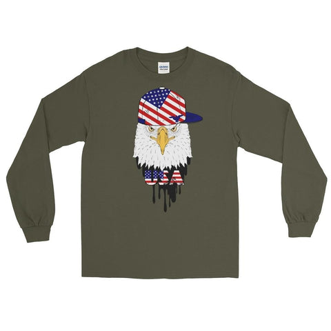 opszillastore,American Eagle and Cap Men's Long Sleeve Shirt,