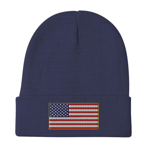opszillastore,American Flag Embroidered Beanie,