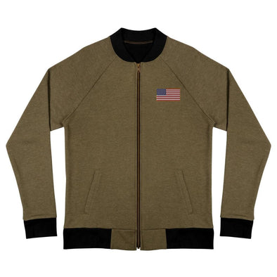 opszillastore,American Flag Embroidered Bomber Jacket,