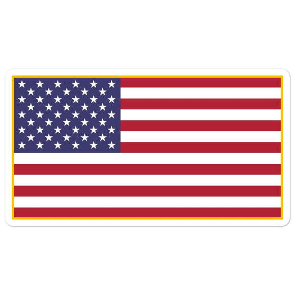 opszillastore,American Flag Embroidered Bubble-free stickers,