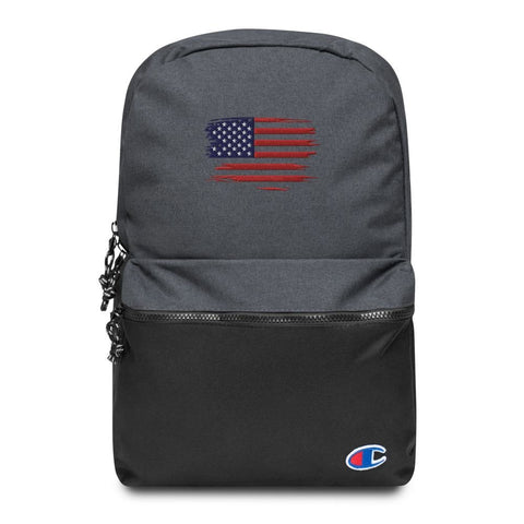 American Flag Embroidered Champion Backpack