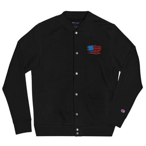 opszillastore,American Flag Embroidered Champion Bomber Jacket,
