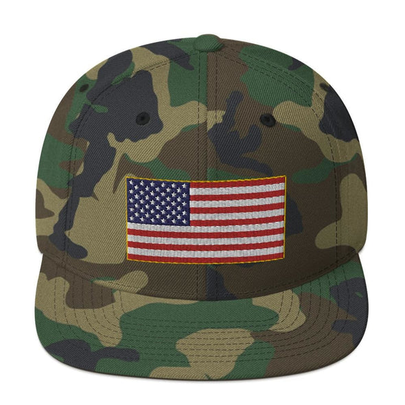 opszillastore,American Flag Embroidered Snapback Hat,
