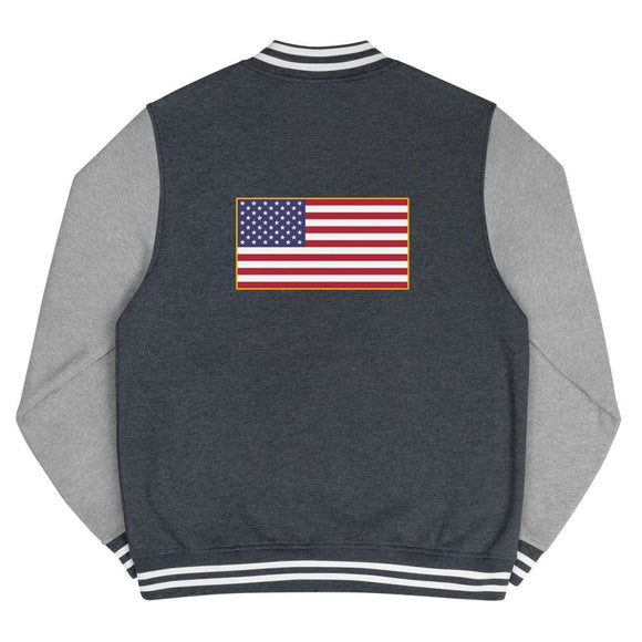 opszillastore,American Flag Men's Letterman Jacket,