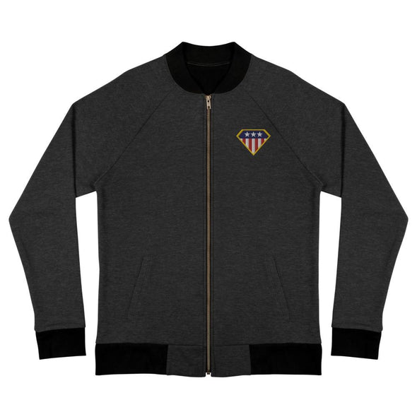 American Hero Bomber Jacket - Heather Black / S