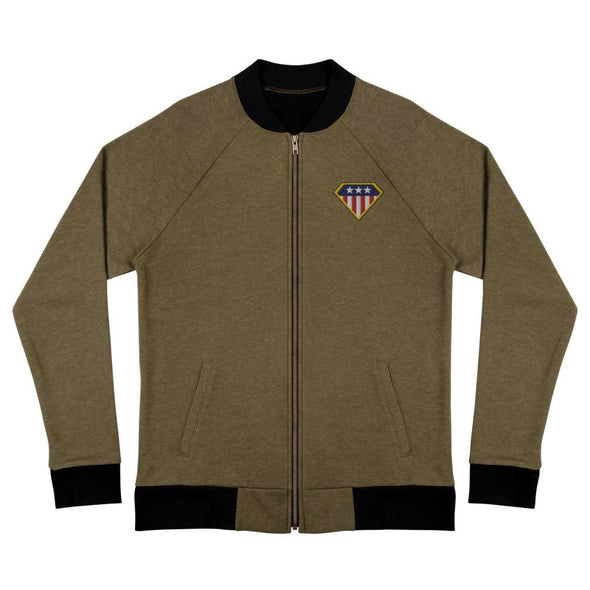 American Hero Bomber Jacket - Heather Military Green / S
