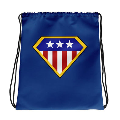 American Hero Drawstring bag