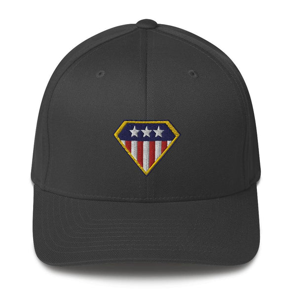 American Hero Embroidered Structured Twill Cap - Dark Grey / S/M