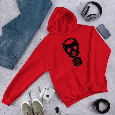 Battlefield Gas Mask Unisex Hoodie - Red / S