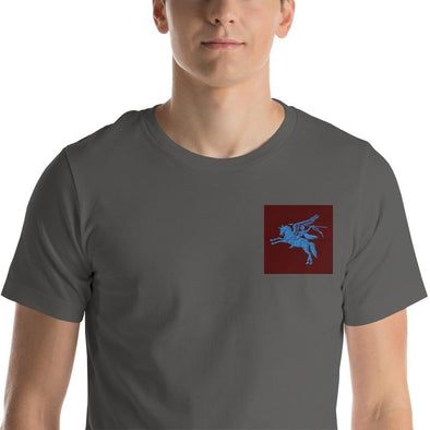 opszillastore,British 1st Para Regiment Pegasus Embroidered Short-Sleeve Unisex T-Shirt,