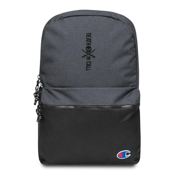 Death On Call Embroidered Champion Backpack