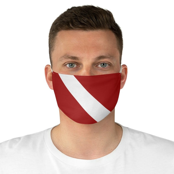 Dive Flag Fabric Face Mask - One size - Accessories