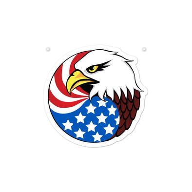 opszillastore,Eagle Head and USA Flag Bubble-free stickers,