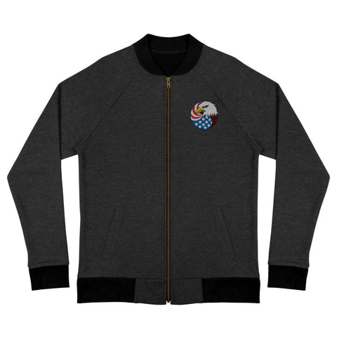 opszillastore,Eagle Head and USA Flag Embroidered Bomber Jacket,