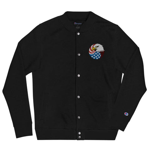 opszillastore,Eagle Head and USA Flag Embroidered Champion Bomber Jacket,