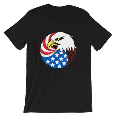 opszillastore,Eagle Head and USA Flag Short-Sleeve Unisex T-Shirt,