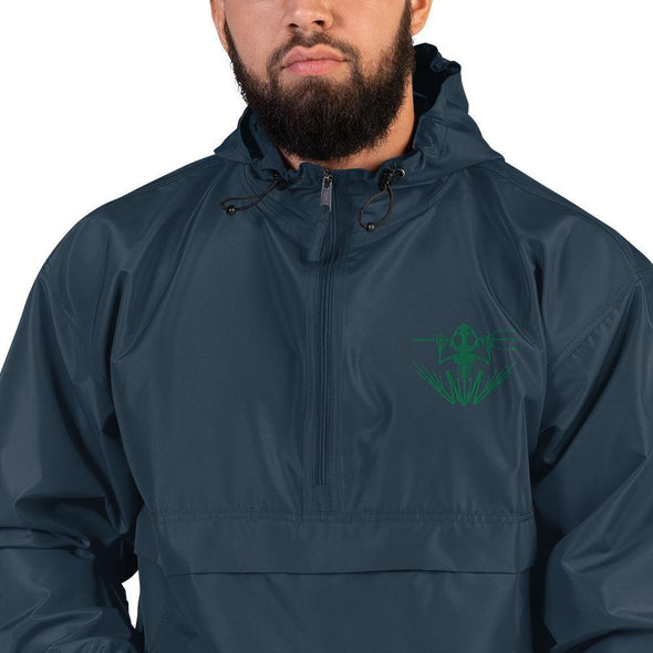 United States Navy UDT SEAL Frogman Embroidered Champion Packable Jacket - Navy / S