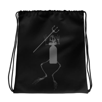 Frogman and Trident II Drawstring bag