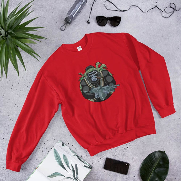 Gorilla Warfare Unisex Sweatshirt - Red / S