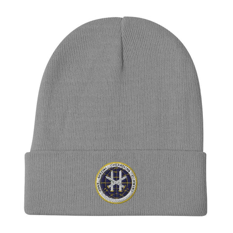 Joint Special Operations Command (JSOC) Embroidered Beanie - Gray