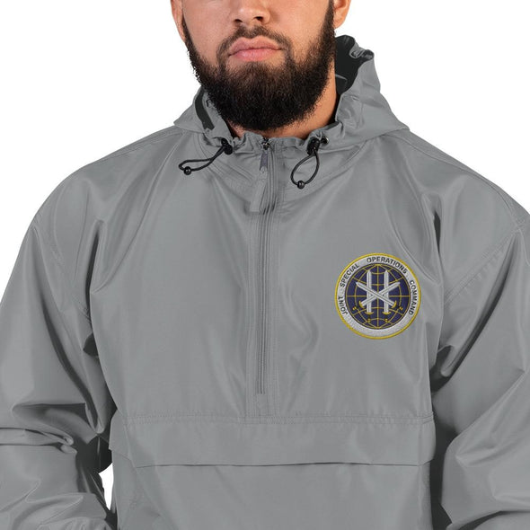 Joint Special Operations Command (JSOC) Embroidered Champion Packable Jacket - Graphite / S