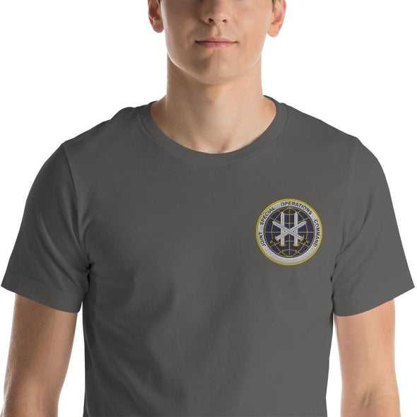Joint Special Operations Command (JSOC) Embroidered Short-Sleeve Unisex T-Shirt - Asphalt / S