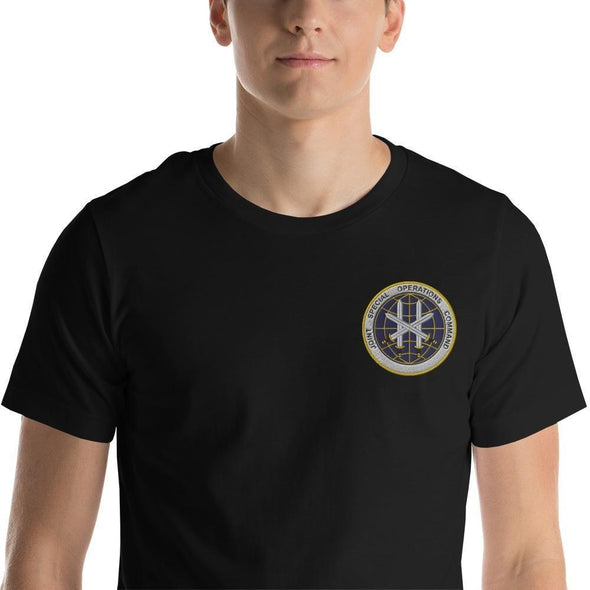 Joint Special Operations Command (JSOC) Embroidered Short-Sleeve Unisex T-Shirt - Black / XS