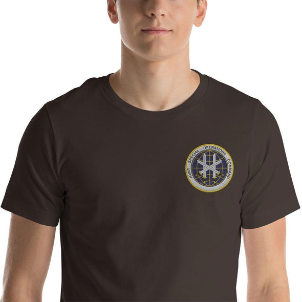Joint Special Operations Command (JSOC) Embroidered Short-Sleeve Unisex T-Shirt - Brown / S