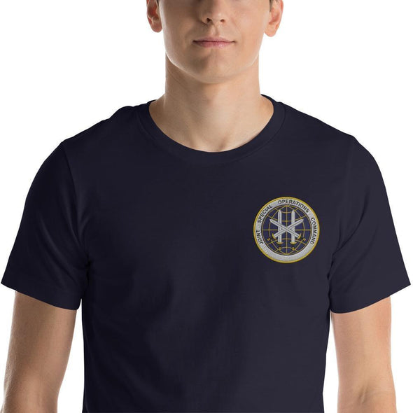 Joint Special Operations Command (JSOC) Embroidered Short-Sleeve Unisex T-Shirt - Navy / XS