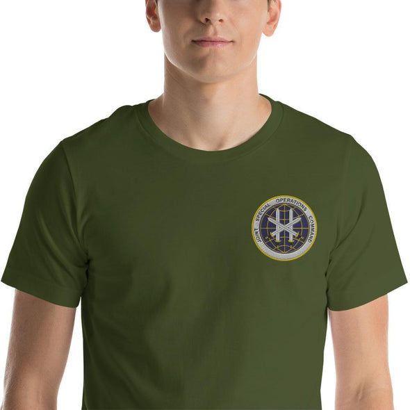 Joint Special Operations Command (JSOC) Embroidered Short-Sleeve Unisex T-Shirt - Olive / S