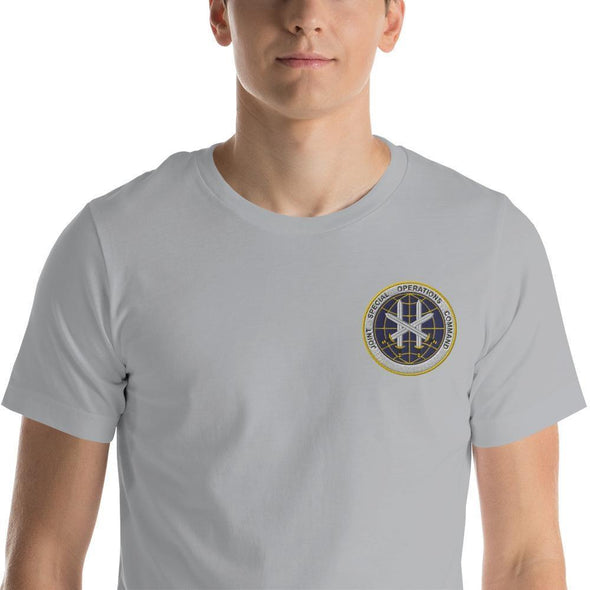 Joint Special Operations Command (JSOC) Embroidered Short-Sleeve Unisex T-Shirt - Silver / S