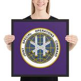 Joint Special Operations Command (JSOC) Framed poster - 18×18
