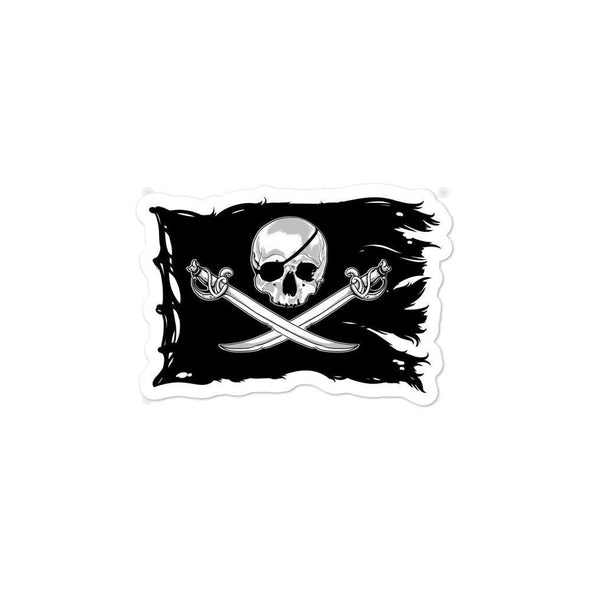 opszillastore,Jolly Roger Flag Bubble-free stickers,