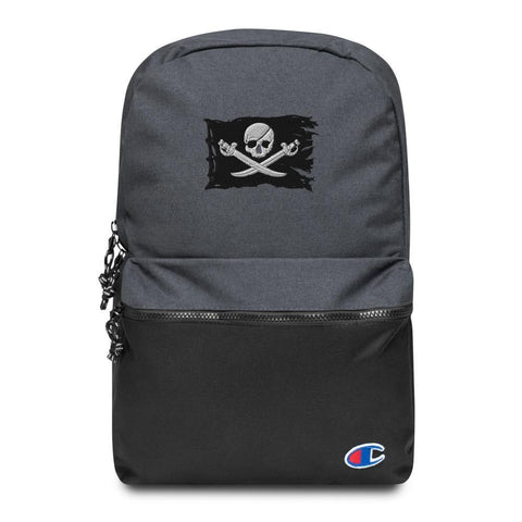 Jolly Roger Flag Embroidered Champion Backpack
