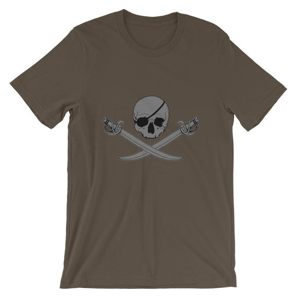 Jolly Roger Short-Sleeve Unisex T-Shirt - Army / S