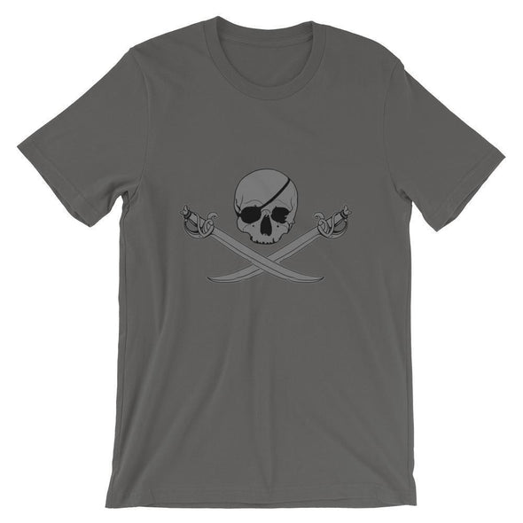 Jolly Roger Short-Sleeve Unisex T-Shirt - Asphalt / S