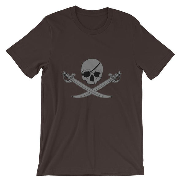Jolly Roger Short-Sleeve Unisex T-Shirt - Brown / S