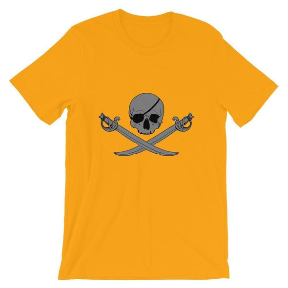 Jolly Roger Short-Sleeve Unisex T-Shirt - Gold / S