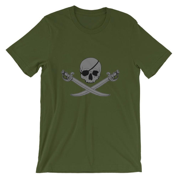 Jolly Roger Short-Sleeve Unisex T-Shirt - Olive / S