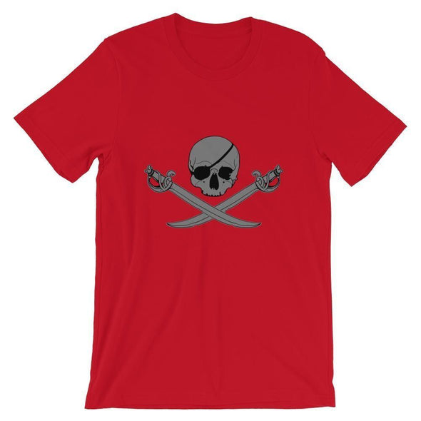 Jolly Roger Short-Sleeve Unisex T-Shirt - Red / S