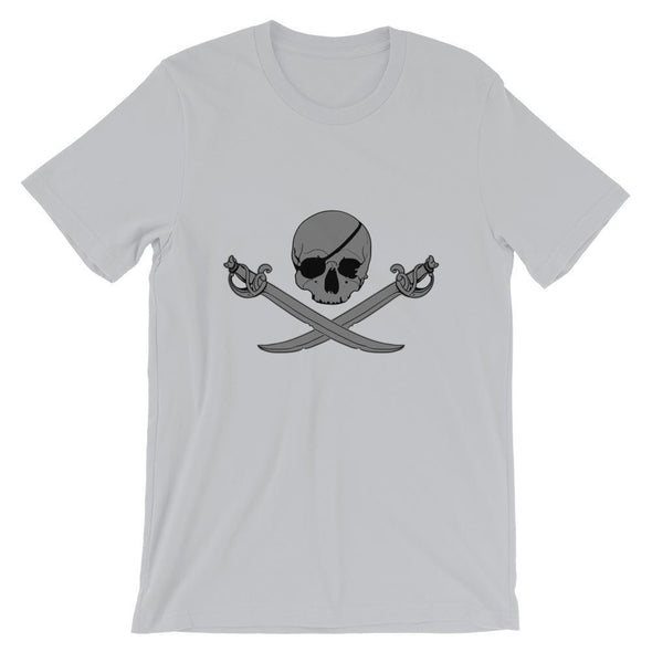 Jolly Roger Short-Sleeve Unisex T-Shirt - Silver / S
