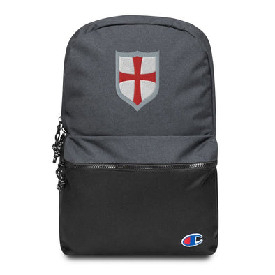 Knights Templar Shield Embroidered Champion Backpack